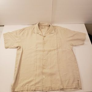 Tommy Bahama Button Up Silk Short Sleeve Mens L